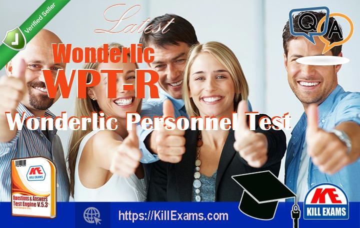 WPT-R Wonderlic Personnel Test Exam Dumps